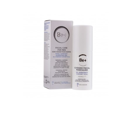 Be+ cuidado facial masculino gel hidratante confort total  50ml