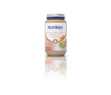 Nutribén® potito® fibra, ciruela, Platano y Uva 250g