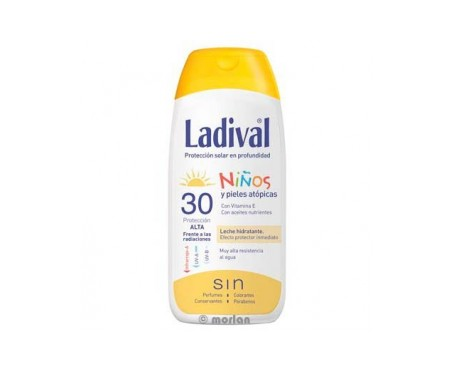 Ladival® Niños SPF30+ leche fotoprotectora 200ml