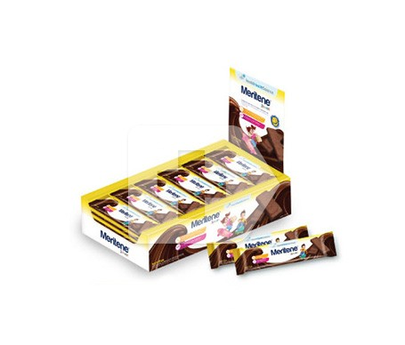 Meritene Junior barritas cereales sabor chocolate 30uds