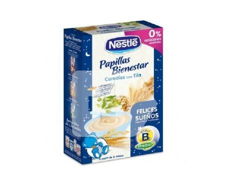 Nestlé papilla bienestar cereales con tila 600g