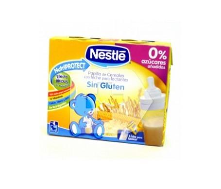 Nestlé papilla de cereales sin gluten 250ml+250ml