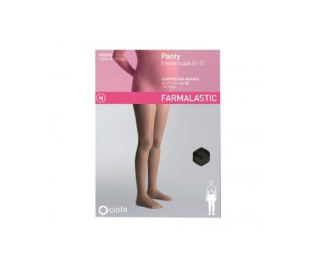 Farmalastic panty embarazada (E-T) comp. normal T-extra grande negro 1ud