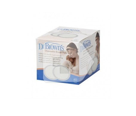 Dr Brown's discos absorbentes lactancia desechables 60uds