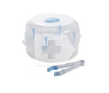 Dr Brown`s natural flow esterilizador al vapor microondas  azul
