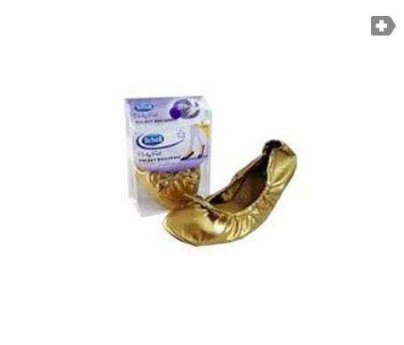 Scholl Party Feet Ballerina pocket ballerina 35-36 gold 1 pair