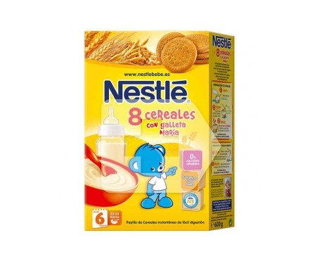 Nestlé papilla 8 cereales y galleta maría 600g