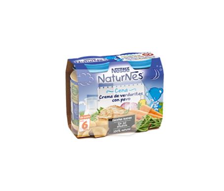 NaturNes crema de verduritas con pavo 200g+200g