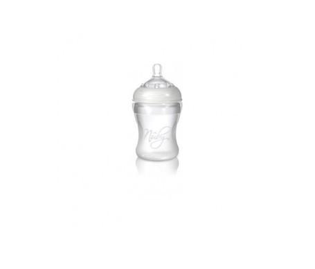 Nuby Confort biberón silicona 3 posiciones 0+ meses 230ml 1ud