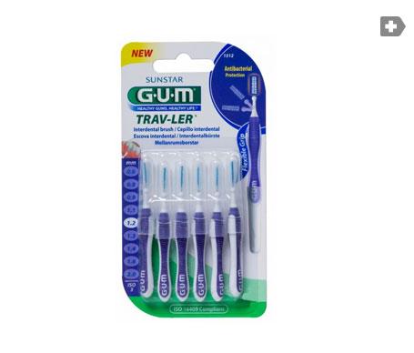 GUM® cepillo Butler Proxabr viaje 1512 6uds