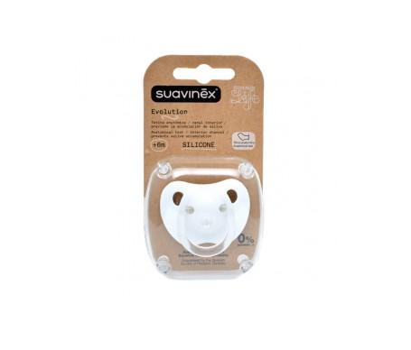 Suavinex®  chupete Evolution tetina silicona 1ud