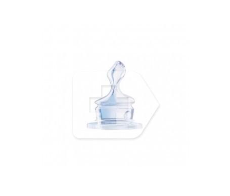 NUK tetina silicona boca ancha talla 2 orificio s 1ud