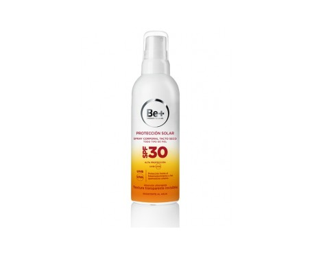 Be+ fotoprotector spray tacto seco SPF30+ 200ml
