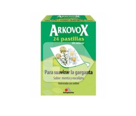 Arkovox menta y eucalipto pastillas 24uds
