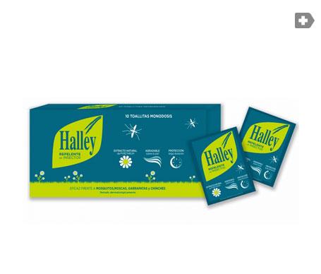 Halley repelente de insectos toallitas 10uds