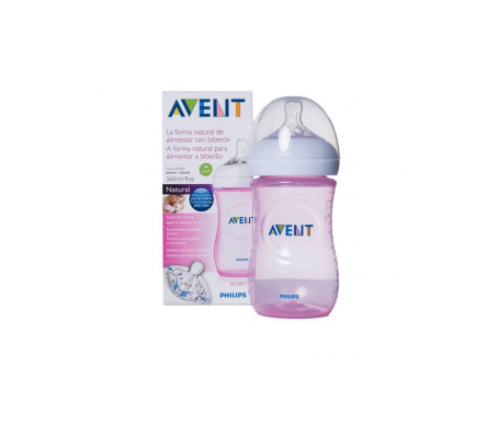 Avent Natural biberón rosa 260ml