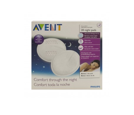 Avent discos absorbentes noche 20uds