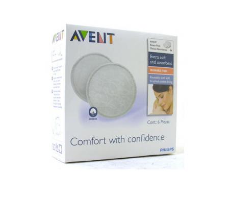 Avent discos absorbentes lavables SCF155/06 6uds