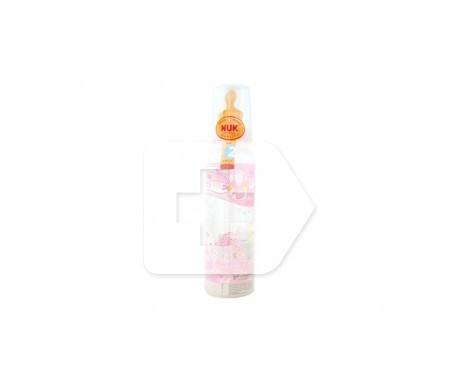 Nuk Biberón rosa tetina látex  talla 2 orificio L 330ml