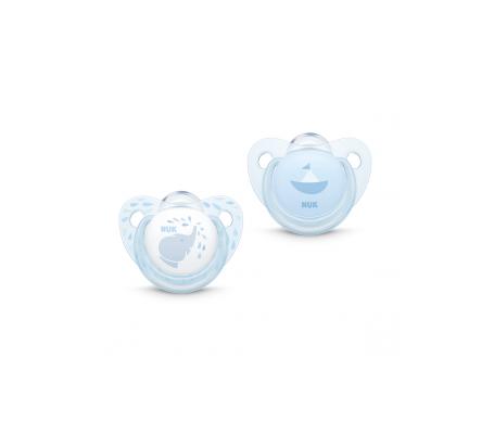 Nuk Baby Blue chupete tetina silicona sin anilla 2uds