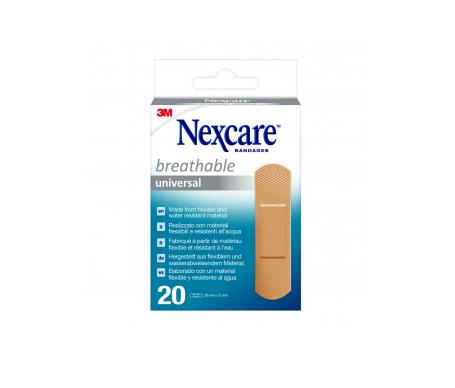 Nexcare® Universal tiras protectoras 19x76mm 20uds