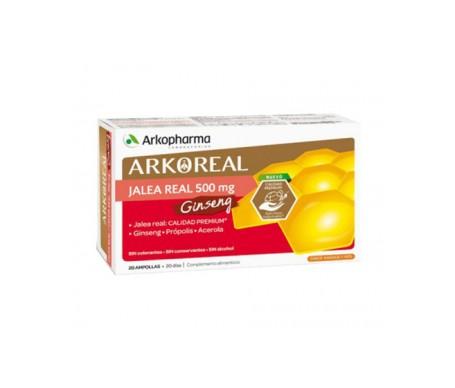 Arkoreal Jalea Real + Ginseng royal jelly and ginseng 20 amp.