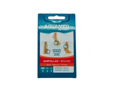Aquamed Active ampollas apósito hidrocoloide T-G 2uds + T-M 3uds + T-P 2uds