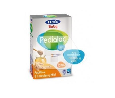 Hero Baby Pedialac papilla de 8 cereales y miel 500g