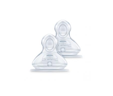 Nuk First Choice tetinas de silicona y boca ancha T-2  2uds