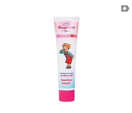 Fluor-Kin Infantil dentífrico fresa 75ml
