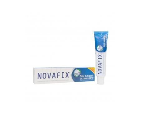 Novafix Ultrafuerte adhesivo prótesis dental sin sabor 70g