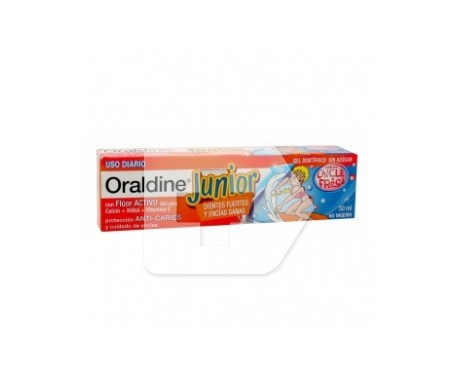Oraldine Junior gel dentifrico 50ml