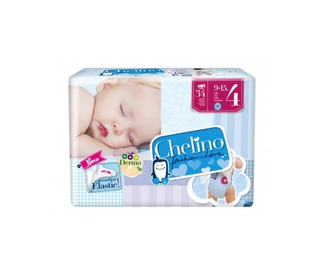 Chelino Fashion&Love pañales T4 9-15kg 34uds