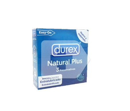 Durex® Natural Plus Easy-On preservativos 3uds