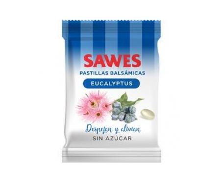 Sawes caramelos sin azúcar eucalipto 50g