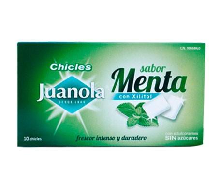 Juanola® chicles con xilitol sabor menta 10uds