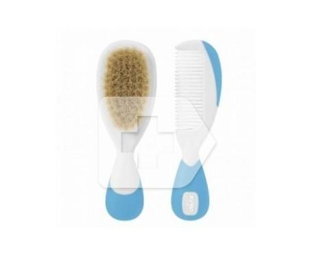 Chicco® cepillo azul 1ud + peine azul 1ud