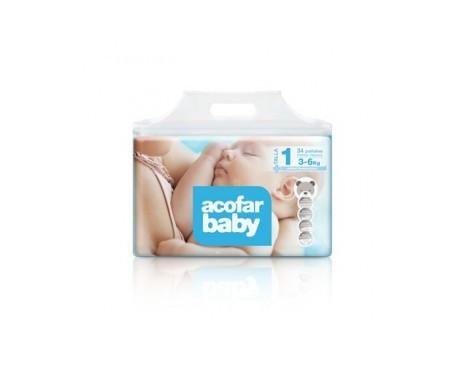 Acofarbaby pañales recién nacidos 3-6kg 36uds