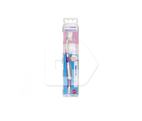 GingiLacer cepillo dental adulto suave cabezal pequeño 1ud