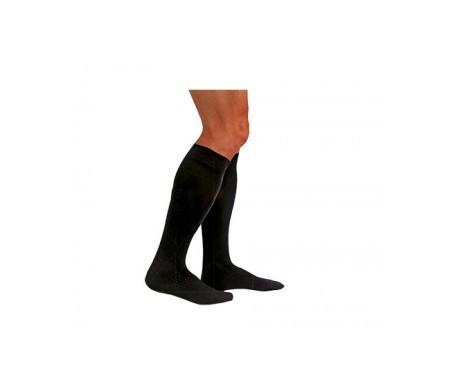Medilast calcetín negro compresión normal T-XL 1par