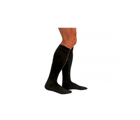 Medilast calcetín negro compresión normal T-S 1par