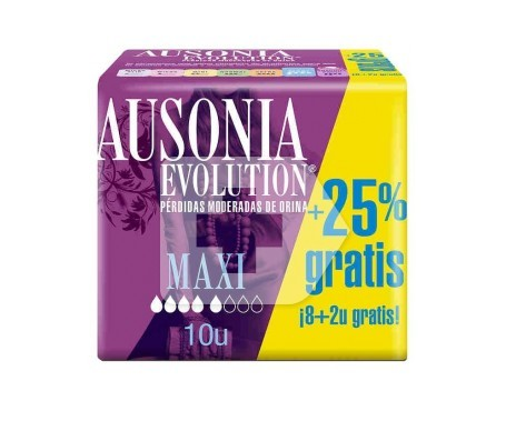 Ausonia® Evolution compresa maxi 8+2uds