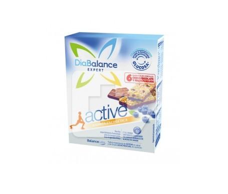 DiaBalance Expert Active barrita de cereales, chocolate y frutos rojos 6uds