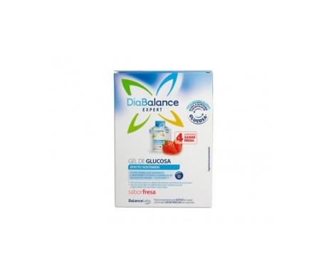 DiaBalance Expert gel glucosa efecto sostenido fresa 4 sobres