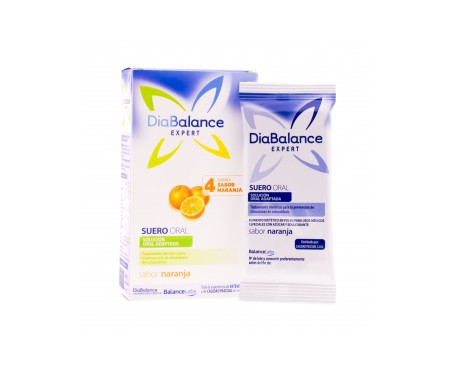 DiaBalance Expert suero oral naranja 4 sobres
