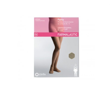 Farmalastic panty-media hasta la cintura (E-T) compresión normal T-mediana beige 1ud