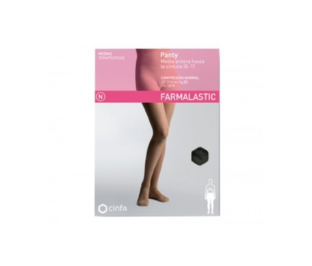 Farmalastic panty-media hasta la cintura (E-T) compresión normal T-reina negro 1ud