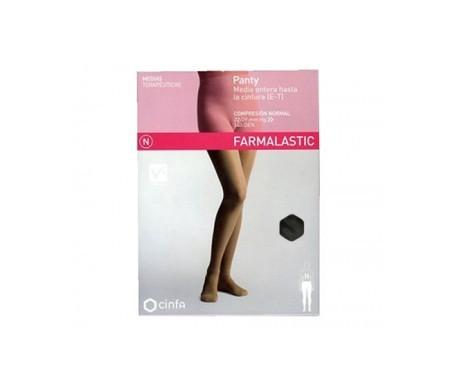 Farmalastic panty modelador (E-T) compresión normal T-pequeña negro 1ud