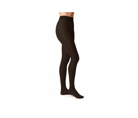 Orbalast panty compresión muy ligera negro talla grande