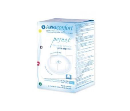 Farmaconfort discos absorbentes lactancia 100% algodón 30uds
